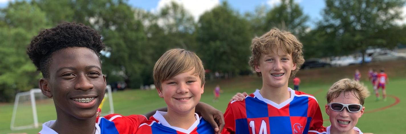 Soccer boys outside